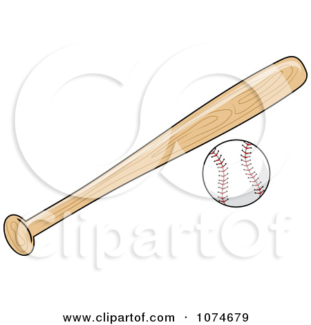 450x470 Baseball Bat And Ball Clipart