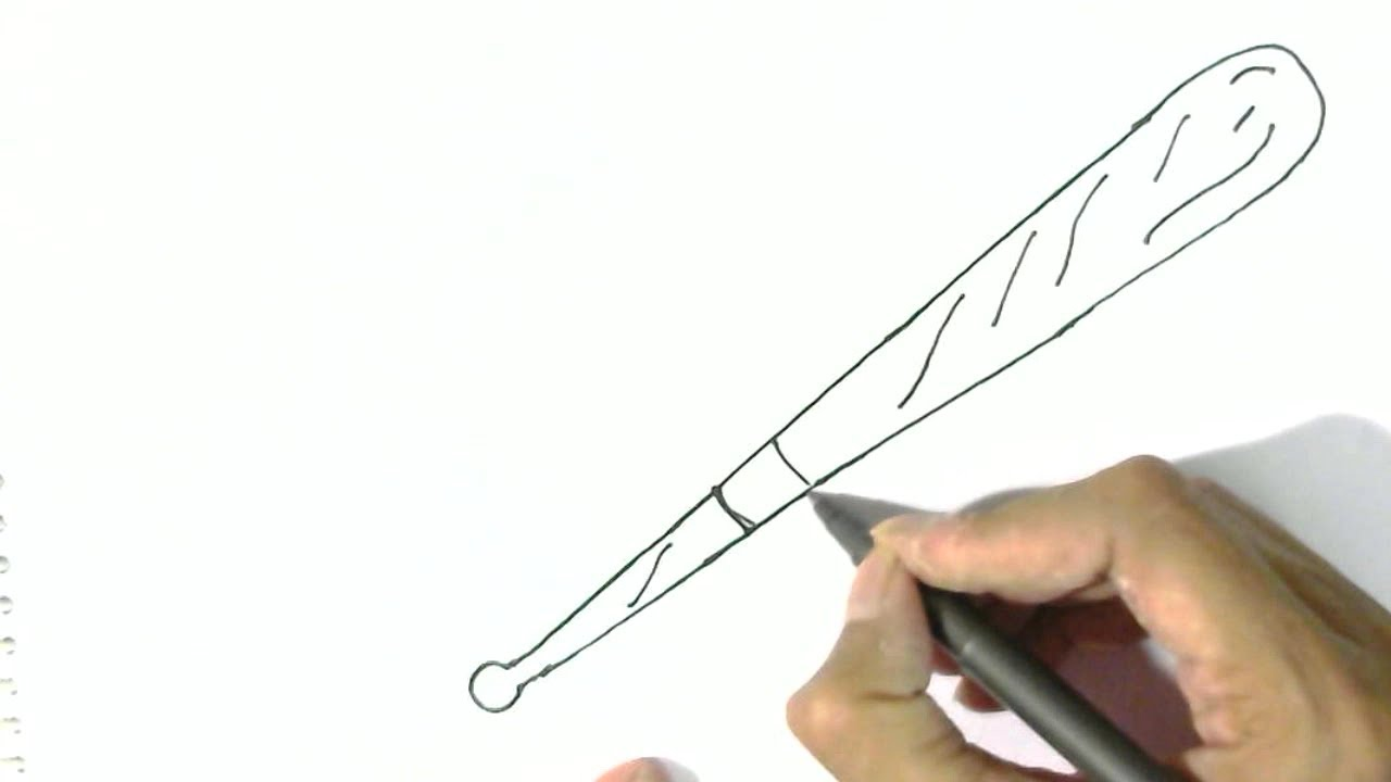 1280x720 How To Draw A Baseball Bat In Easy Steps For Children. Beginners