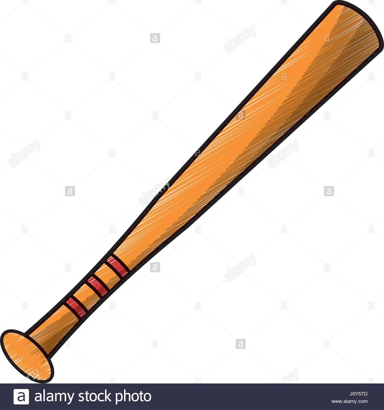 1300x1390 Drawing Bat Baseball Equipment Stock Vector Art Amp Illustration