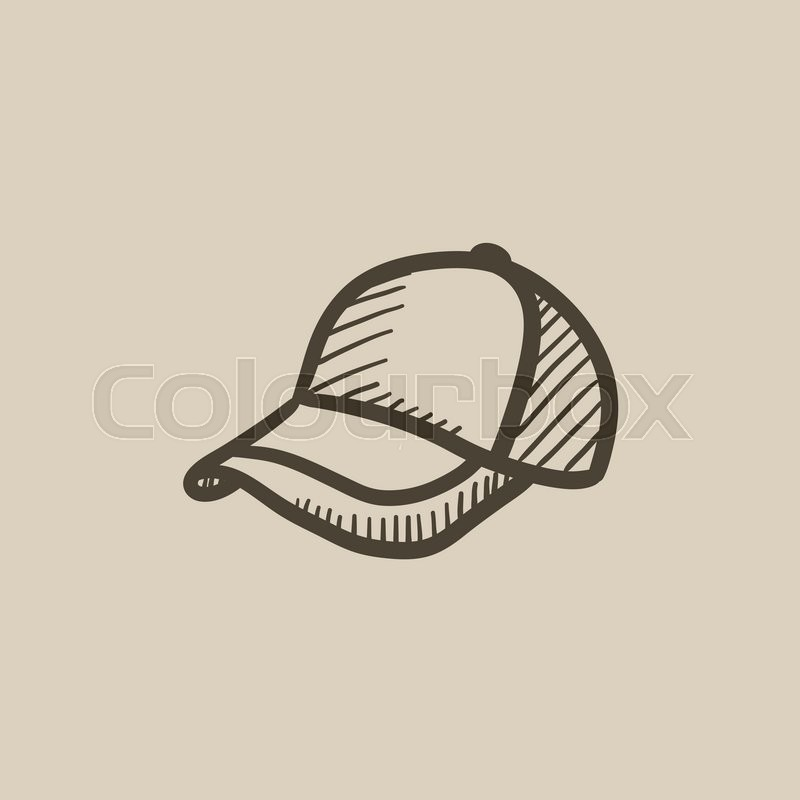 800x800 Baseball Hat Sketch Icon For Web, Mobile And Infographics. Hand