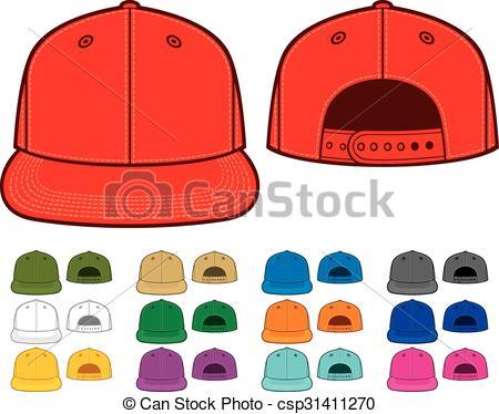 450x374 Rap Cap Front And Back View Vectors Illustration