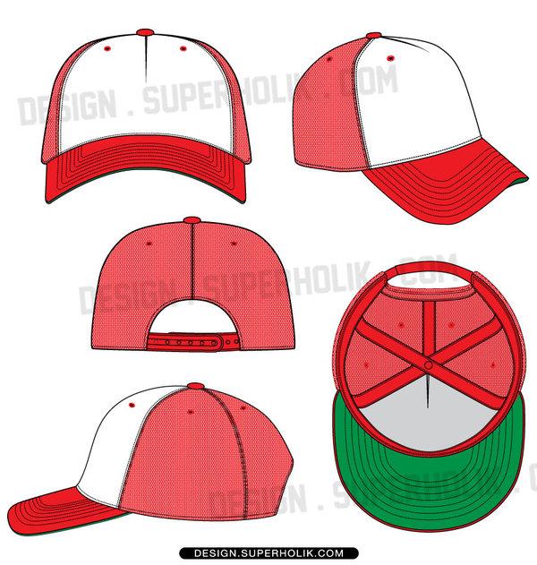 600x631 Trucker Hat Template By Superholik