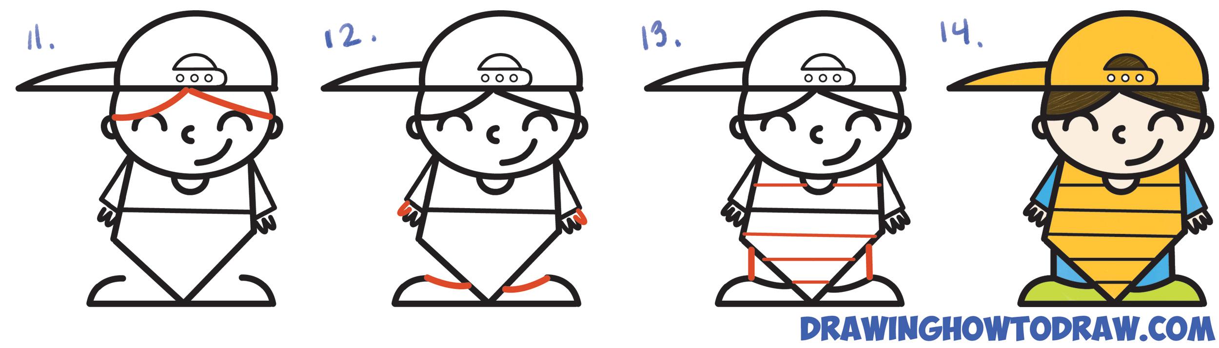 2500x714 Baseball Cartoon Drawings Learn How To Draw A Cute Cartoon Kid