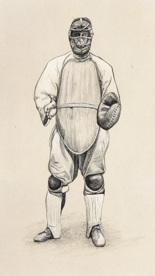 500x889 Old Time Baseball Catcher Greg Tatum
