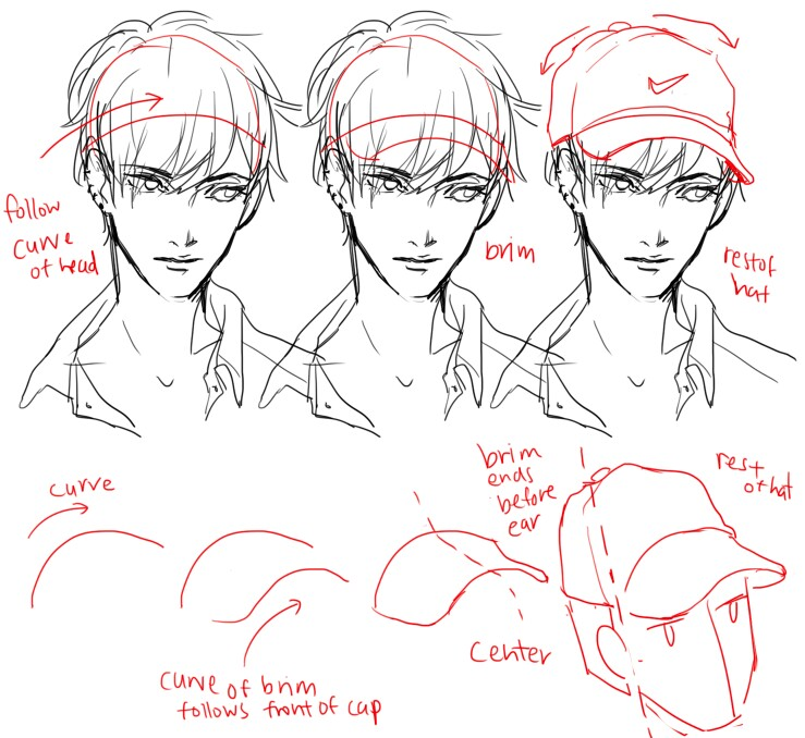 739x678 How To Draw A Cap How To Draw Comics Cap, Drawings