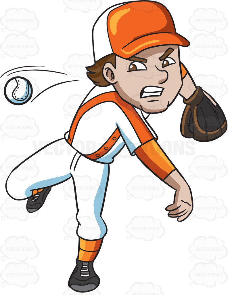 baseball pitcher drawing at getdrawings com free for personal use rh getdrawings com cartoon baseball glove clipart