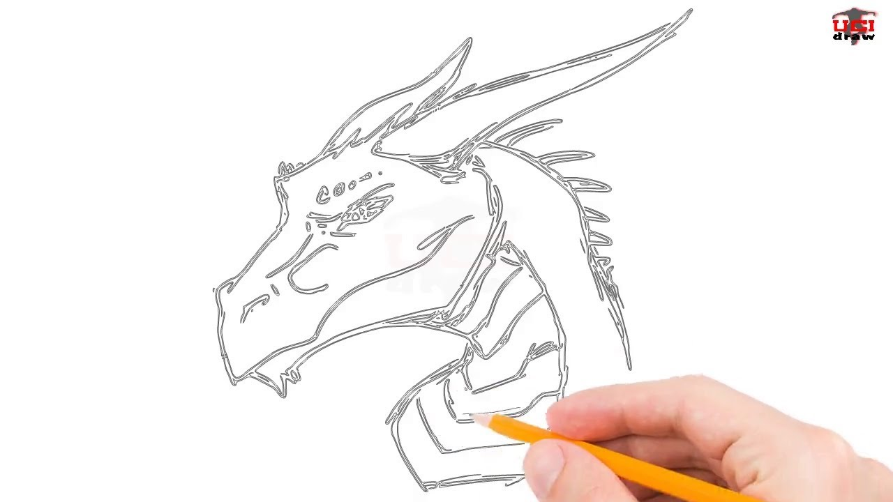 1280x720 How To Draw A Dragon Head Step By Step Easy For Beginnerskids