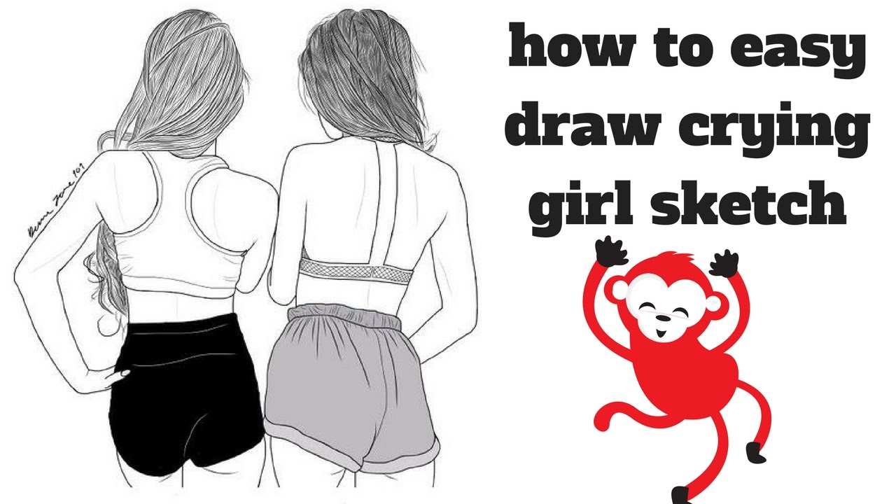 1280x720 Basic Drawing Of A Girl Crying How To Easy Draw Crying Girl Sketch
