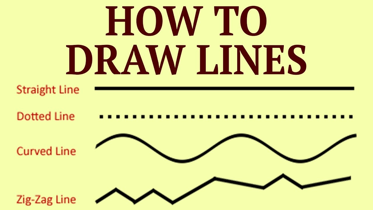 1280x720 Learn How To Draw Lines Drawing Exercises For Kids Basic