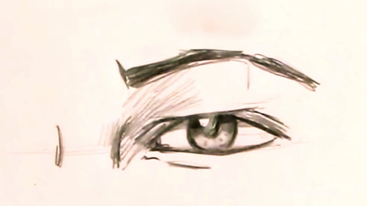 1280x720 How To Draw The Male Eye (Step By Step)