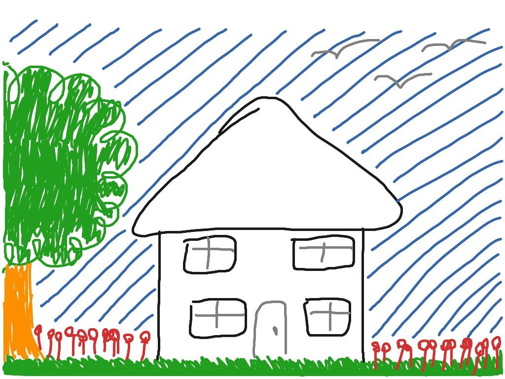 1024x768 Basic House Drawing Art Showme