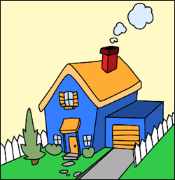 250x258 Cartoon House How To Draw Guide