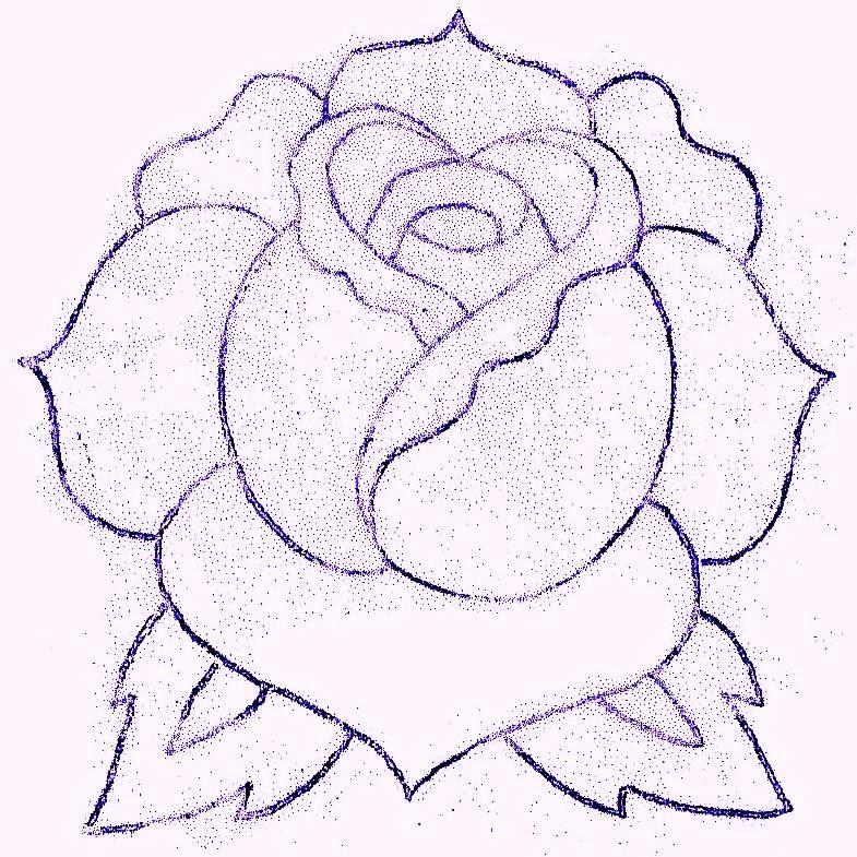Simple Rose Flower Tattoo Designs