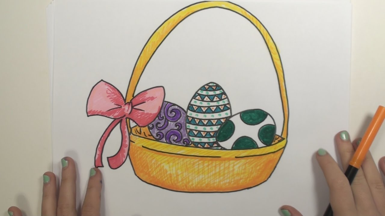 1280x720 How To Draw Easter Basket Mlt