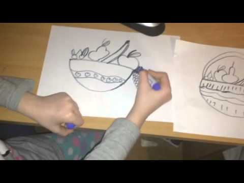 480x360 How To Draw A Fruit Basket