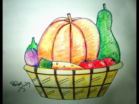 480x360 How To Draw A Vegetables Basket