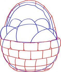 236x281 How To Draw An Easter Egg Basket Step 4 Art Stuff