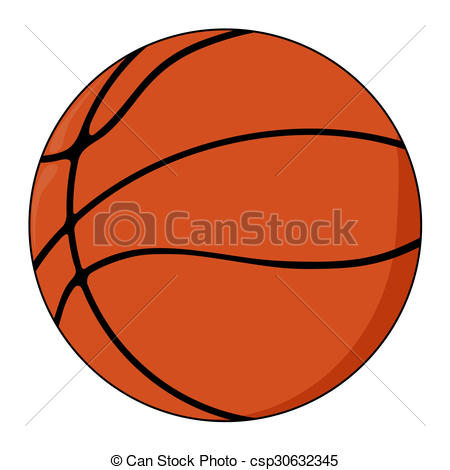 450x470 Vector Illustration Of Basketball Ball Drawing