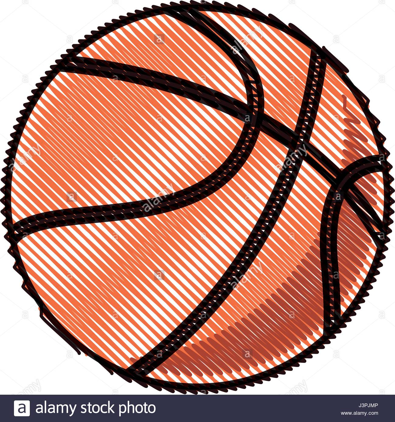 1299x1390 Drawing Basketball Ball Sport Competition Element Stock Vector Art