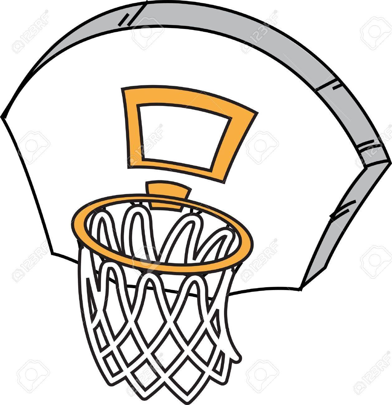 1258x1300 Cartoon Basketball Hoop, Net And Backboard Royalty Free Cliparts