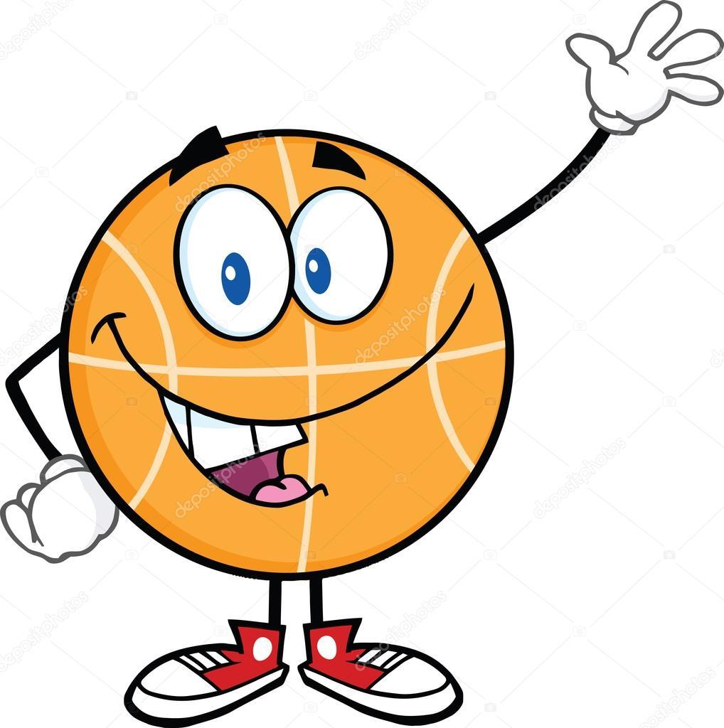1018x1024 Happy Basketball Cartoon Character Waving Stock Photo Hittoon