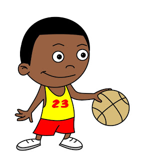 300x320 How To Draw Cartoons Basketball Player