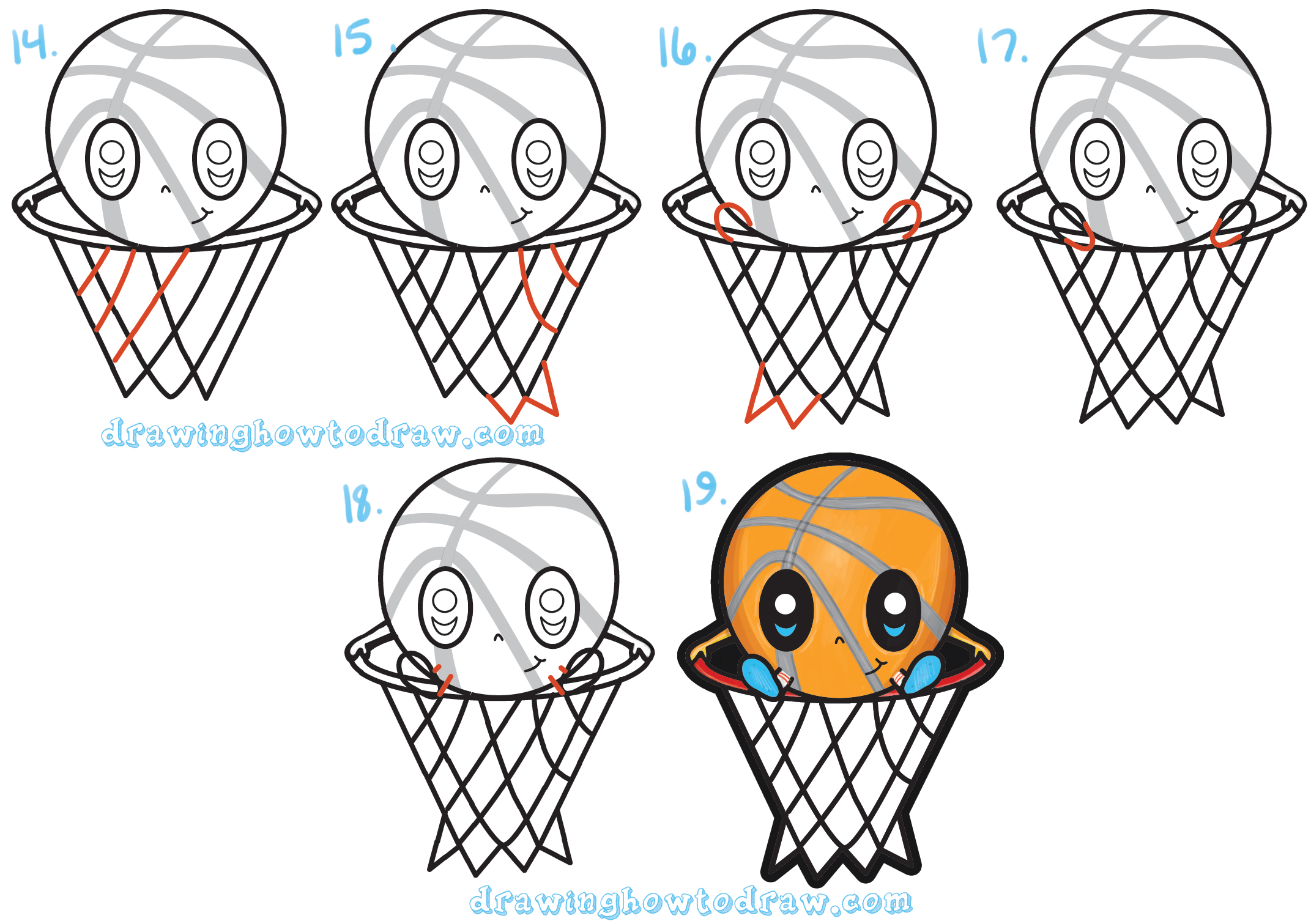 2143x1511 How To Draw A Cartoon Basketball Guy (Cute Kawaii Chibi Style)