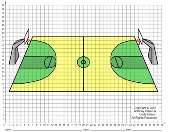 350x271 Basketball Court, March, Road To Winning, Coordinate Drawing