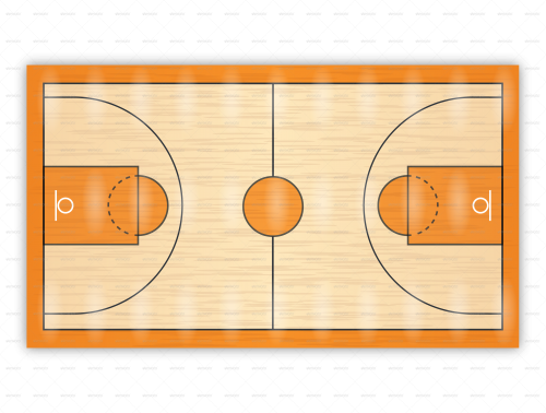 500x378 Basketball Court Diagrams For Drawing Up Plays And Drills