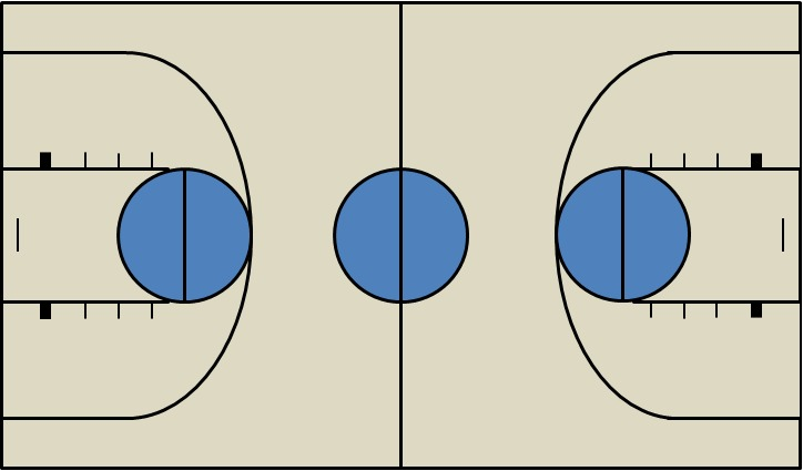 basketball court diagram template