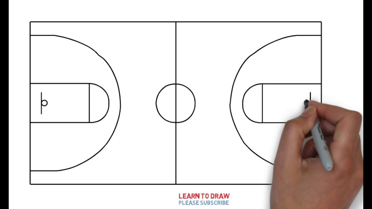 1280x720 How To Draw A Basketball Court Step By Step Easy