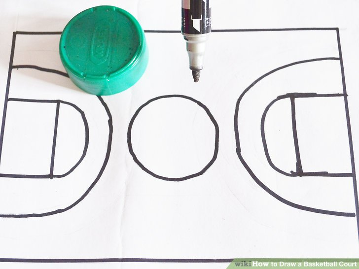 728x546 How To Draw A Basketball Court 6 Steps (With Pictures)