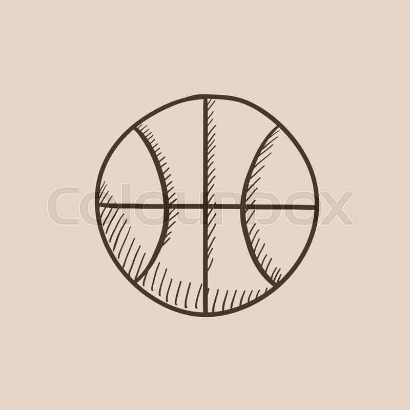 800x800 Basketball Ball Sketch Icon For Web, Mobile And Infographics. Hand