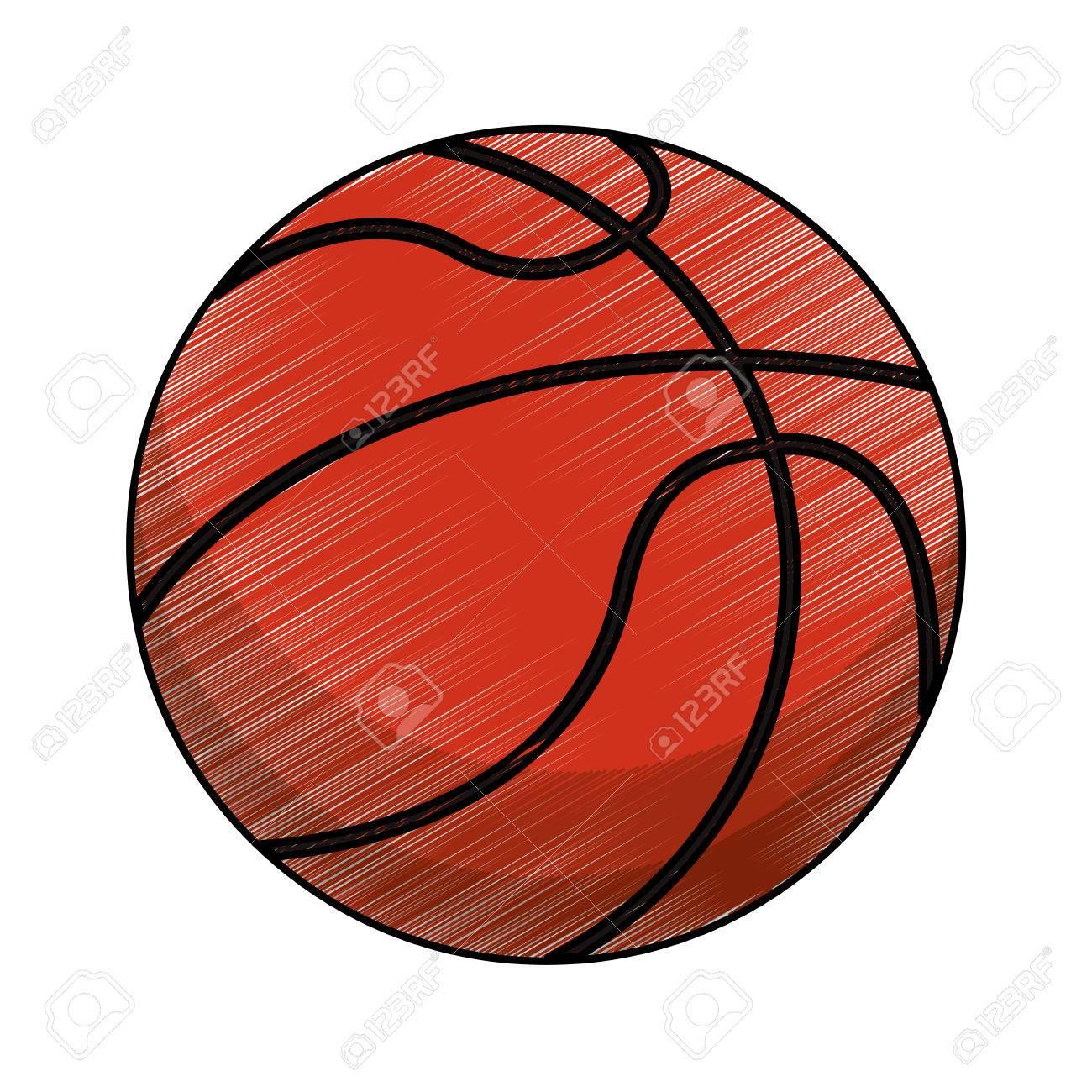 1300x1300 Drawing Basketball Ball Equipment Vector Illustration Eps 10
