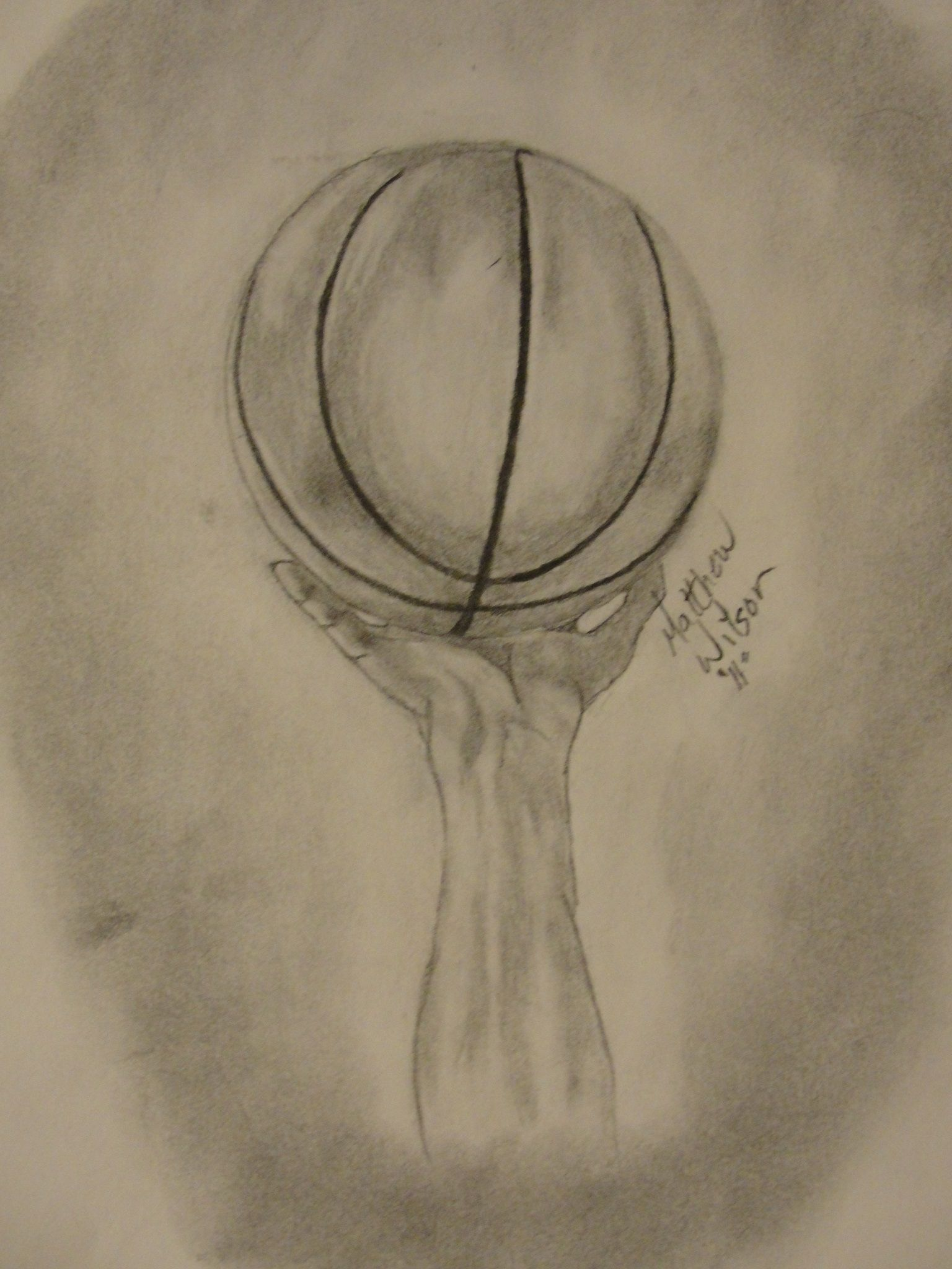 1536x2048 Hand With Basketball Drawing