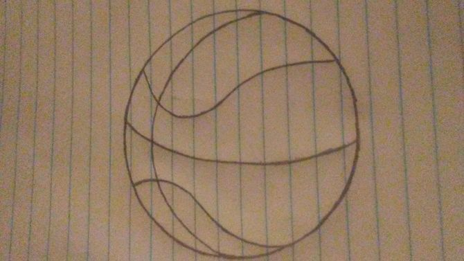 670x377 How To Draw A Basketball 12 Steps (With Pictures)
