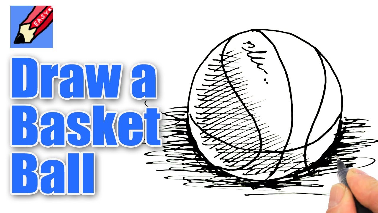 1280x720 How To Draw A Basketball Real Easy