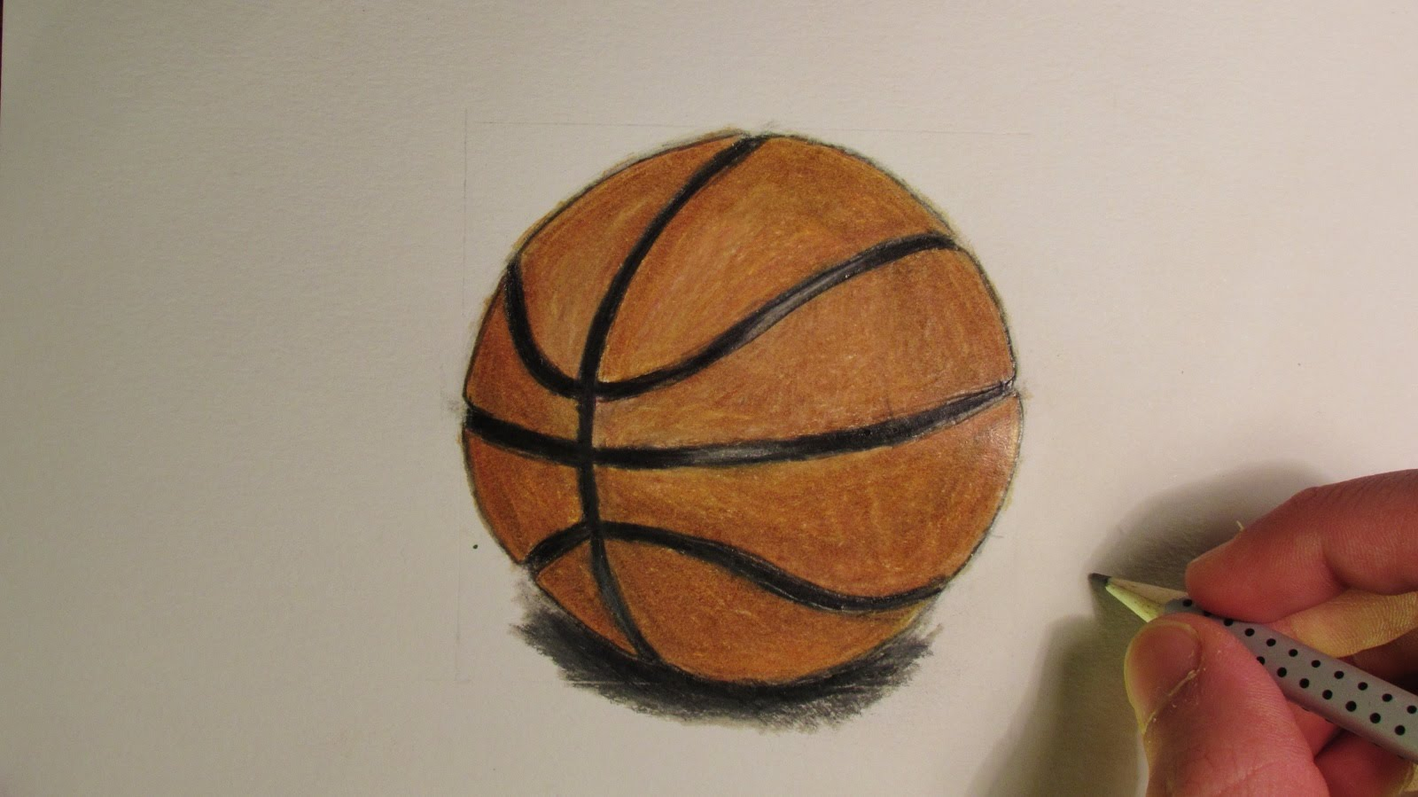 1600x899 Realistic Basketball (Speed Drawing)
