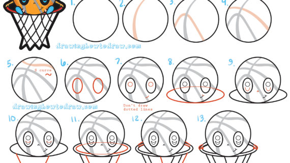 570x320 A Drawing Of A Basketball Draw A Basketball Player, Step By Step