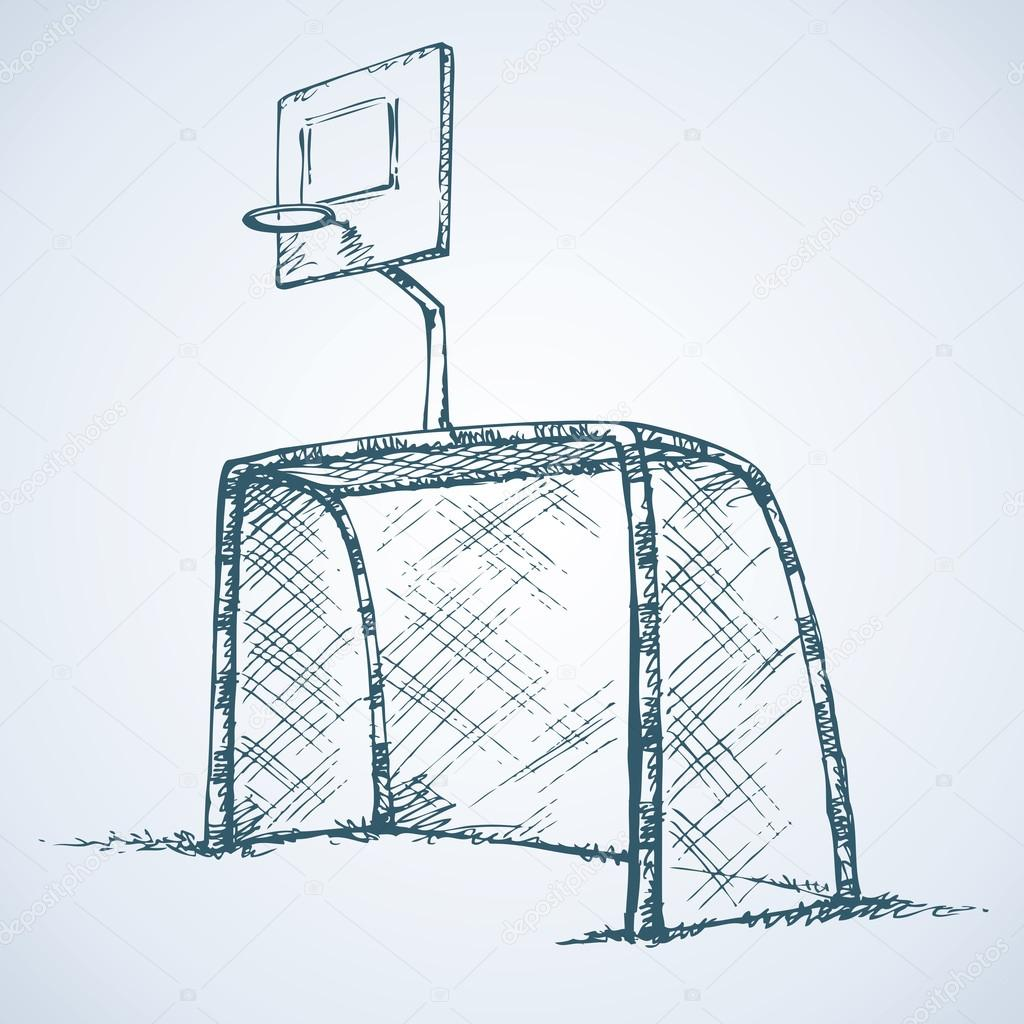 Basketball Goal Drawing at GetDrawings.com | Free for personal use ...