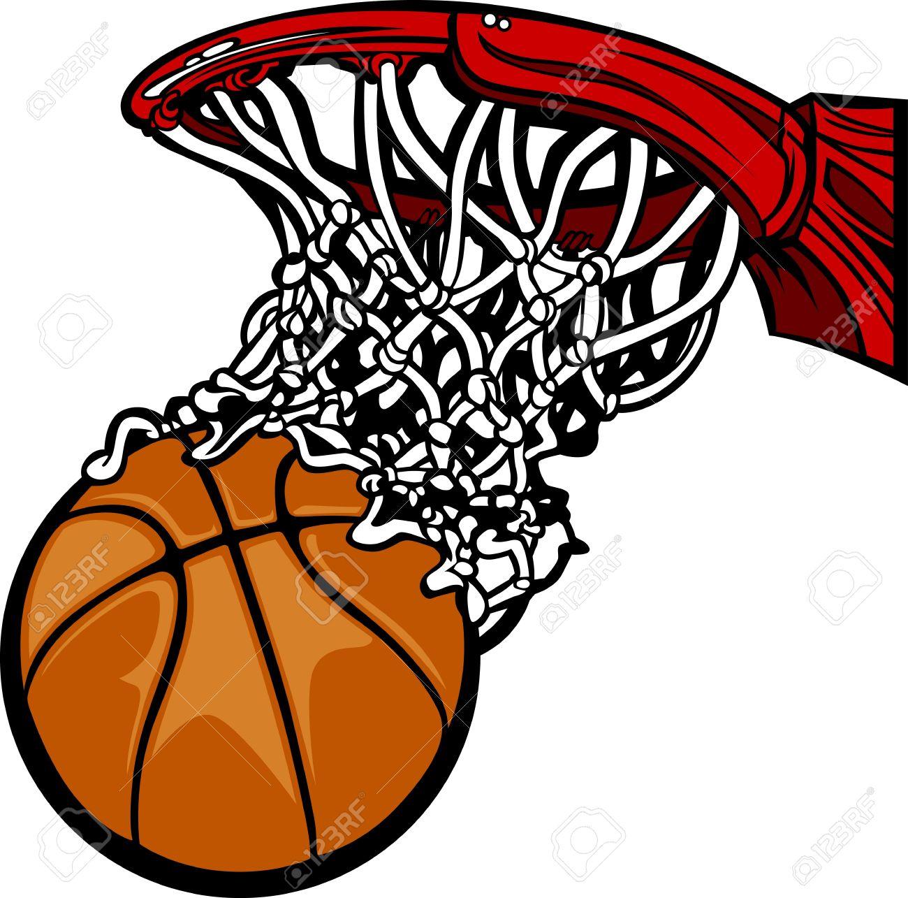 1300x1285 Basketball Hoop With Basketball Cartoon Royalty Free Cliparts
