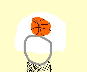 300x250 Basketball Going Into Hoop
