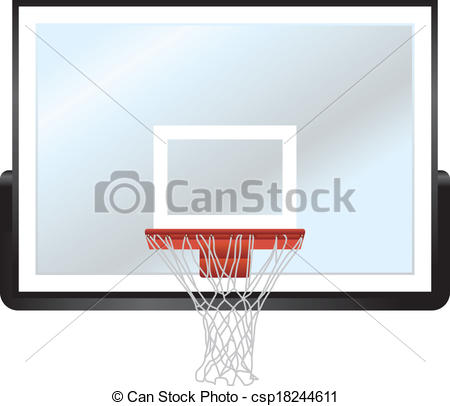 450x406 Basketball Rim And Backboard. A Vector Illustration Of A Vector