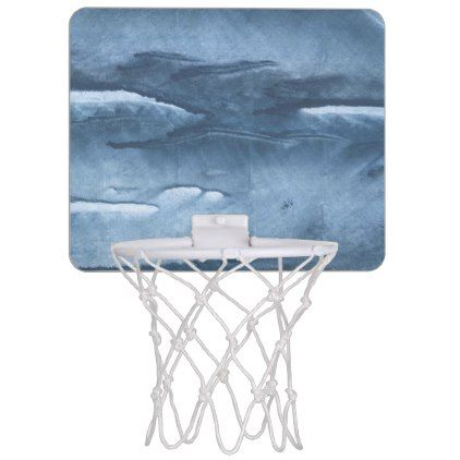 422x422 Gray Blue Clouded Wash Drawing Painting Mini Basketball Hoop