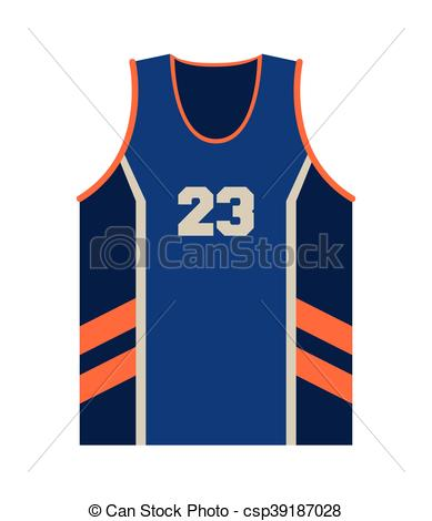 389x470 Flat Design Basketball Jersey Icon Vector Illustration Vector