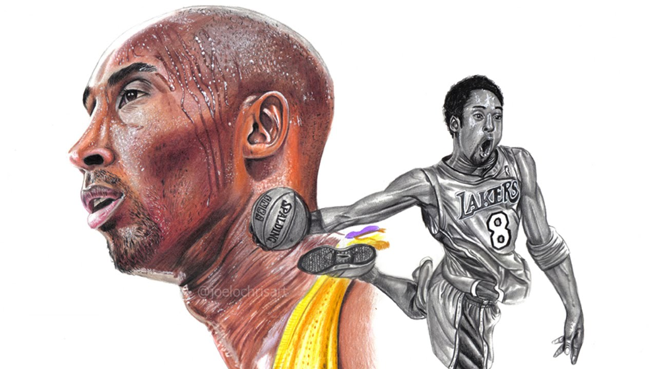 1280x720 Drawing Kobe Bryant The Black Mamba