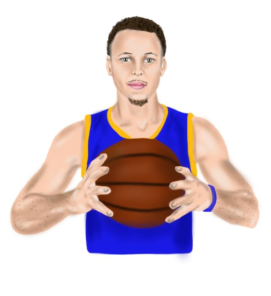 550x600 Learn How To Draw Stephen Curry (Basketball Players) Step By Step