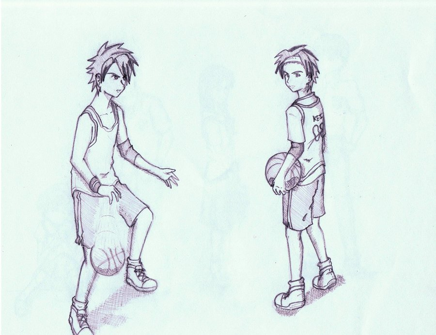 900x691 Basketball Player By Kikutakashi
