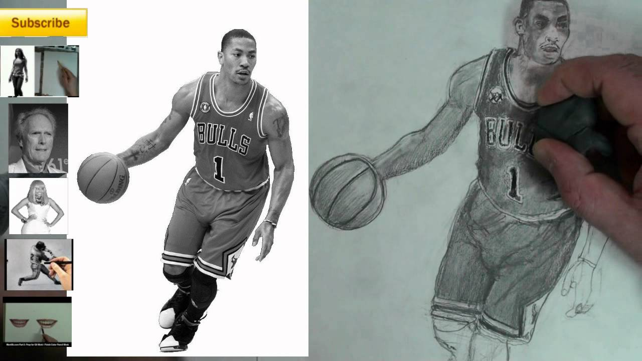 1280x720 Youdraw (How To Draw) Derrick Rose Interactive Figure Drawing