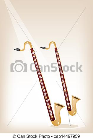 315x470 A Musical Bass Clarinet On Brown Stage Background. Music